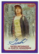 Gaten Matarazzo Autograph Card 02/25 Purple Parallel Stranger Things Topps 2018