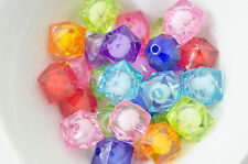 10 Perles Acrilique Cube 14mm facette perle 14 mm creation bijoux, collier