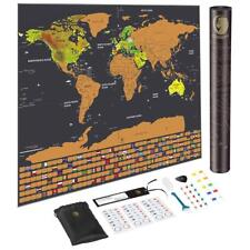 New listing Cosbity Scratch Off Map of The World with Us States and Country Flags
