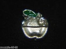 Floating Charms Mini Charm Living Memory Locket Pendant Green Silver Apple 8mm