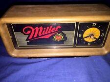 1980's Miller Beer Light Bar Desk Clock ~ Works