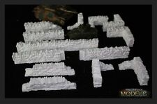 Stone Wall Sets For use with Warhammer40k  Warmachine  Bolt Action Flames Of War