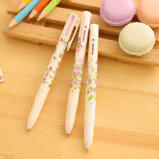 3Pc Korean Stationery Summer Story Multicolor Ball Point Pen 4 Colors in 1 Pen
