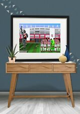 Stoke City Football Print, Stock on Trent FC, Football Gift, Soccer print, Stoke