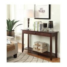 Foyer Table Entryway Console Modern Long Hallway With Storage Drawers Wood NEW