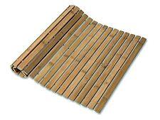 Antiscivolo in bambù a Doghe Pieghevole Duck Board Rettangolare Doccia Tappetino