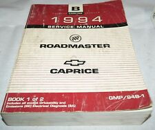 1994 Buick Roadmaster Chevy Caprice OEM Service Shop Manual - Book 1