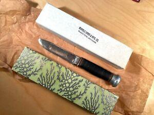 """Marbles Knife Co. Vintage Signed Marbles 8""""gift box Vintage Ideal Knife inside"""