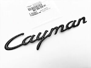 "Porsche Cayman Carbon Fiber Rear Emblem ""Cayman"" 2006-2012 Base S OEM Nameplate"