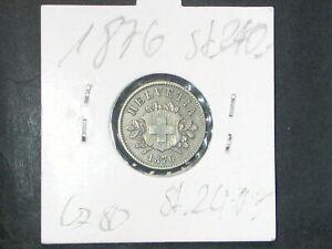 Schweiz  10 Rappen 1876 B  stempelglanz