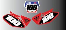 HONDA CR CRF 85 125 150 250 450 BACKGROUNDS NUMBER BOARD GRAPHICS-STICKERS-DECAL