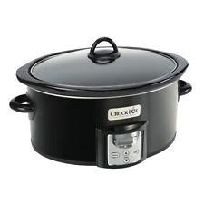 Crock-Pot 4 Qt Digital Count Down Slow Cooker Kitchen Appliance, Black(Open Box)