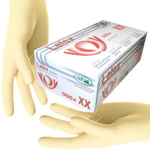SFM ® BIOLIMES : Latexhandschuhe Einmalhandschuhe Untersuchungshandschuhe
