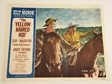 Original 1953 - Yellow Haired Kid Lobby Card - Guy Madison as Wild Bill Hickok