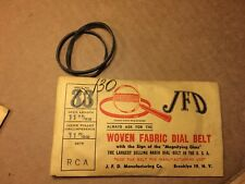 NOS Antique JFD Fabric Radio Dial Belt Number 130 GUARANTEED for RCA