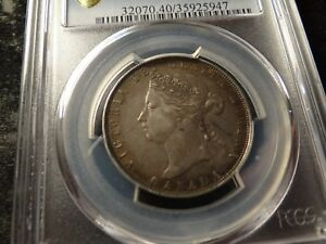 1872-H  PCGS XF 40 Canada Fifty Cents Very Nice Original Coin SLABZ