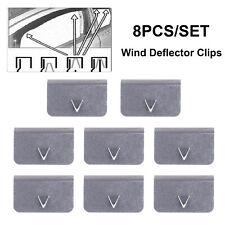 4pcs Suuonee Clip del deflettore del vento clip di fissaggio di fissaggio del canale del deflettore della pioggia del vento universale dellacciaio inossidabile messe