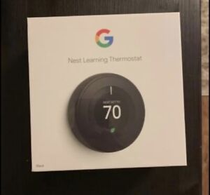 Google Nest 3rd Generation Learning Thermostat Black Brand New Factory Sealed