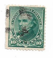 1890-1893 Green 10 Cent Daniel Webster US Stamp Scott 226 hinged fancy cancel