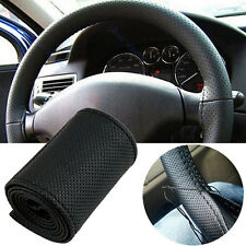 Hot Sale PU Leather DIY Car Steering Wheel Cover Case With Needles and Thread