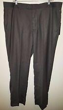 Alberto Giani NWT Men's Charcoal Flat Front Striped Dress Pants Size 40/32