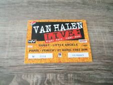 ticket place billet VAN HALEN Paris -Zénith 1993 RARE !