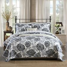 NEW Cotton Quilted Bedspread Coverlet Throw Blanket -3pcs Double Queen King