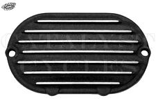 Black Finned Transmission End Cover for Harley Transmission on Big Twins 87-06