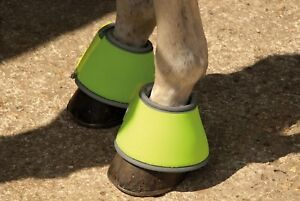 HY VIZ REFLECTIVE OVER REACH BOOTS  -yellow, pony,cob