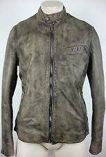 7 FOR ALL MANKIND MOTORCYCLE JACKET LEATHER Herren Lederjacke Gr.L NEU+ETIKETT