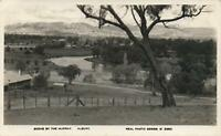 1944 VINTAGE REAL PHOTO MURRAY RIVER, ALBURY POSTCARD - from Albion Hotel Albury