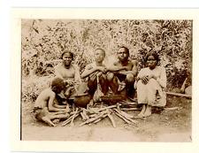 Madagascar, Une famille malgache Vintage albumen print Tirage albuminé  12x1