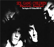 Sex Gang Children- SIGNED Electric Jezebel-Singles Collection A & B sides 82-83
