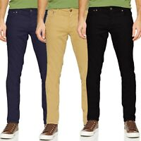 Jack & Jones Mens Slim Fit Jeans Twill Stretch Chinos Trouser All Waist