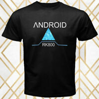 Detroit Become Human Android RK800 Logo Men's Black T-Shirt Size S - 3XL