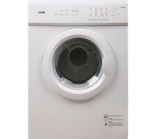 Logik LVD7W15 Vented Tumble Dryer 7kg Capacity Sensor drying C Energy rate White