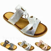 Ladies Womens Comfort Low Wedge Casual Summer Slip On Mules Sandals Shoes Size