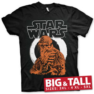 Officially Licensed Star Wars Solo - Chewbacca 3XL,4XL,5XL Men's T-Shirt