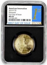2019 P $1 DELAWARE NGC MS65 FDI AMERICAN INNOVATION DOLLAR FIRST DAY OF ISSUE