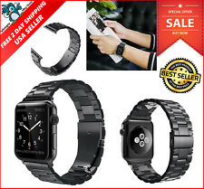Apple Watch Replacement Band Strap Stainless Steel iWatch 42mm Series 1/2 Black