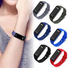 SKMEI Men's Unisex LED Rubber Saving Power Waterproof Sport Bracelet WristWatch