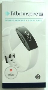 Fitbit - Inspire HR Activity Tracker + Heart Rate - White