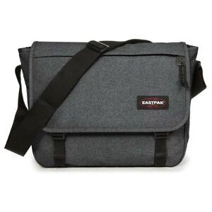 EASTPAK Unisex Umhängetasche Delegate Messenger Laptop Bag Black Denim (grau)