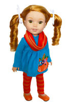 Unicorn Pumpkin Set for Wellie Wisher Dolls 14.5 Inch Doll Clothes Glitter Girl