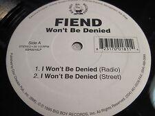 "FIEND ""I Won't Be Denied"", ""Baddest M.F. Alive"" Big Boy New Orleans h"