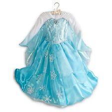 NWT Disney Store Authentic Frozen DELUXE Elsa Dress Costume Size 7/8