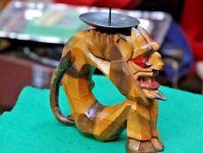 Candlestick carved wood, the devil, USSR