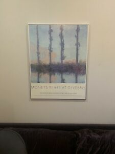 VINTAGE 'Monet's Years at Giverny Exhibition Poster 1978 PICK UP ONLY