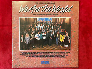 "USA FOR AFRICA  ""WE ARE THE WORLD""  LP  1985  COLUMBIA  USA-40043  ROCK  USA  EX"