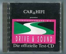 Car & Hifi cd DRIVE & SOUND Die offizielle Test-CD © 1990 Demonstration Test CD